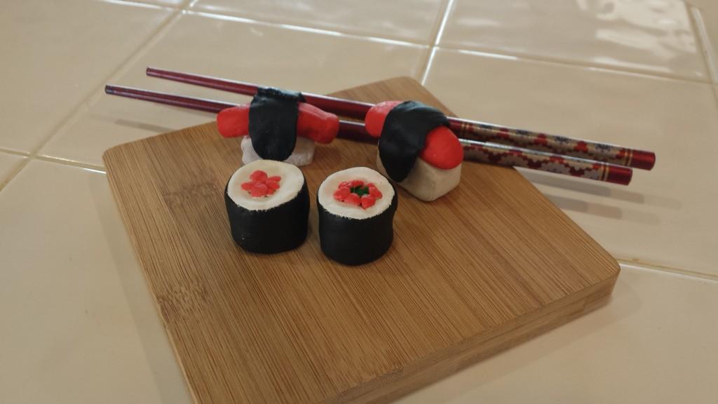 Model Clay Sushi