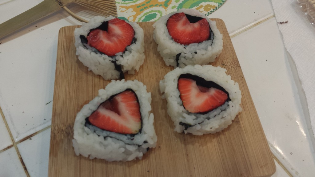 Heart Sushi with Strawberries